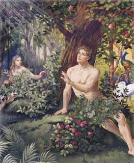 huerto del eden, manzana, tentacion, eva, Adán